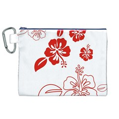 Hawaiian Flower Red Sunflower Canvas Cosmetic Bag (XL)