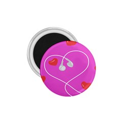 Heart Love Pink Red 1.75  Magnets