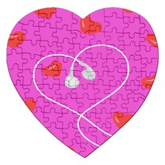 Heart Love Pink Red Jigsaw Puzzle (Heart)
