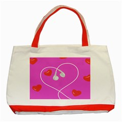 Heart Love Pink Red Classic Tote Bag (Red)