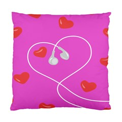 Heart Love Pink Red Standard Cushion Case (two Sides)