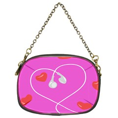 Heart Love Pink Red Chain Purses (Two Sides)