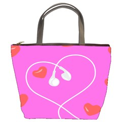 Heart Love Pink Red Bucket Bags
