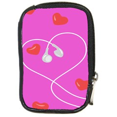 Heart Love Pink Red Compact Camera Cases