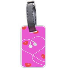 Heart Love Pink Red Luggage Tags (One Side)