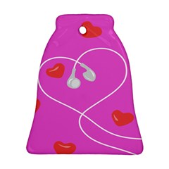 Heart Love Pink Red Ornament (Bell)