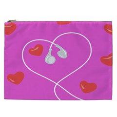 Heart Love Pink Red Cosmetic Bag (XXL)