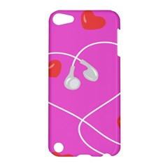 Heart Love Pink Red Apple iPod Touch 5 Hardshell Case