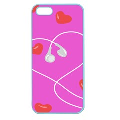 Heart Love Pink Red Apple Seamless iPhone 5 Case (Color)