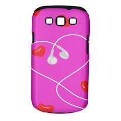 Heart Love Pink Red Samsung Galaxy S III Classic Hardshell Case (PC+Silicone)
