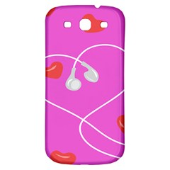 Heart Love Pink Red Samsung Galaxy S3 S III Classic Hardshell Back Case