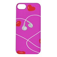 Heart Love Pink Red Apple iPhone 5S/ SE Hardshell Case