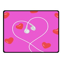 Heart Love Pink Red Double Sided Fleece Blanket (Small)