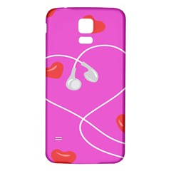 Heart Love Pink Red Samsung Galaxy S5 Back Case (white)