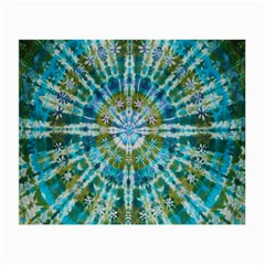Green Flower Tie Dye Kaleidoscope Opaque Color Small Glasses Cloth