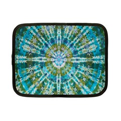 Green Flower Tie Dye Kaleidoscope Opaque Color Netbook Case (Small)