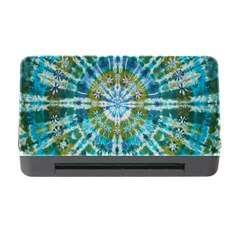 Green Flower Tie Dye Kaleidoscope Opaque Color Memory Card Reader with CF