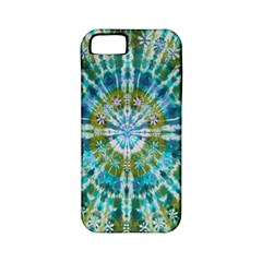 Green Flower Tie Dye Kaleidoscope Opaque Color Apple iPhone 5 Classic Hardshell Case (PC+Silicone)
