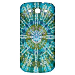 Green Flower Tie Dye Kaleidoscope Opaque Color Samsung Galaxy S3 S III Classic Hardshell Back Case