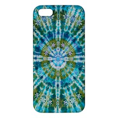 Green Flower Tie Dye Kaleidoscope Opaque Color Apple iPhone 5 Premium Hardshell Case