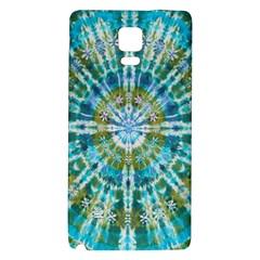Green Flower Tie Dye Kaleidoscope Opaque Color Galaxy Note 4 Back Case