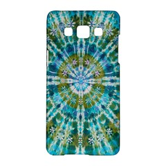 Green Flower Tie Dye Kaleidoscope Opaque Color Samsung Galaxy A5 Hardshell Case