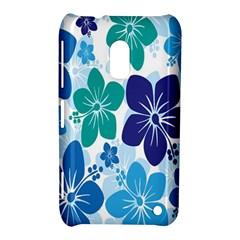Hibiscus Flowers Green Blue White Hawaiian Nokia Lumia 620