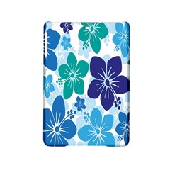Hibiscus Flowers Green Blue White Hawaiian iPad Mini 2 Hardshell Cases
