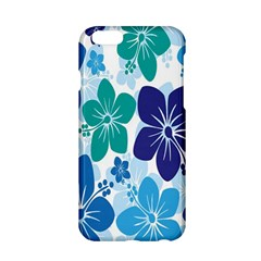 Hibiscus Flowers Green Blue White Hawaiian Apple iPhone 6/6S Hardshell Case
