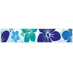 Hibiscus Flowers Green Blue White Hawaiian Flano Scarf (Large)