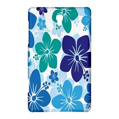 Hibiscus Flowers Green Blue White Hawaiian Samsung Galaxy Tab S (8.4 ) Hardshell Case