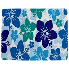 Hibiscus Flowers Green Blue White Hawaiian Jigsaw Puzzle Photo Stand (rectangular)