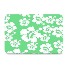 Hibiscus Flowers Green White Hawaiian Plate Mats