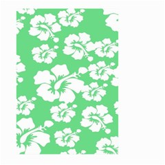 Hibiscus Flowers Green White Hawaiian Large Garden Flag (Two Sides)