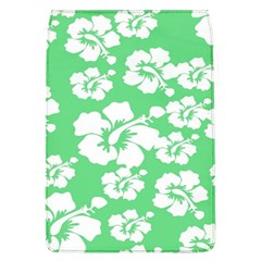 Hibiscus Flowers Green White Hawaiian Flap Covers (L)
