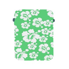 Hibiscus Flowers Green White Hawaiian Apple iPad 2/3/4 Protective Soft Cases