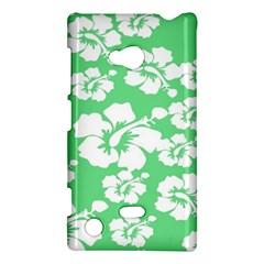 Hibiscus Flowers Green White Hawaiian Nokia Lumia 720