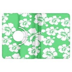 Hibiscus Flowers Green White Hawaiian Kindle Fire Hdx Flip 360 Case