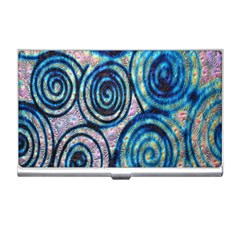 Green Blue Circle Tie Dye Kaleidoscope Opaque Color Business Card Holders