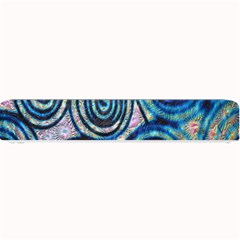Green Blue Circle Tie Dye Kaleidoscope Opaque Color Small Bar Mats