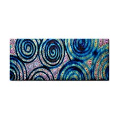 Green Blue Circle Tie Dye Kaleidoscope Opaque Color Cosmetic Storage Cases