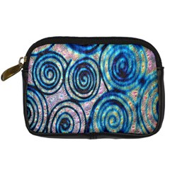 Green Blue Circle Tie Dye Kaleidoscope Opaque Color Digital Camera Cases