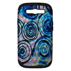 Green Blue Circle Tie Dye Kaleidoscope Opaque Color Samsung Galaxy S III Hardshell Case (PC+Silicone)