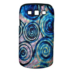 Green Blue Circle Tie Dye Kaleidoscope Opaque Color Samsung Galaxy S III Classic Hardshell Case (PC+Silicone)