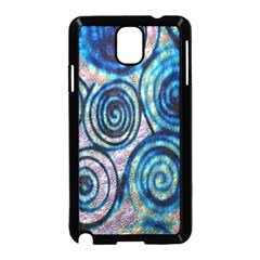 Green Blue Circle Tie Dye Kaleidoscope Opaque Color Samsung Galaxy Note 3 Neo Hardshell Case (Black)