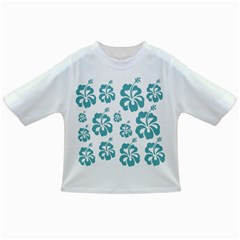 Hibiscus Flowers Green White Hawaiian Blue Infant/Toddler T-Shirts