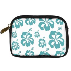 Hibiscus Flowers Green White Hawaiian Blue Digital Camera Cases