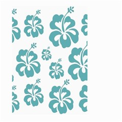 Hibiscus Flowers Green White Hawaiian Blue Large Garden Flag (Two Sides)