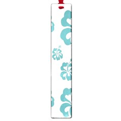 Hibiscus Flowers Green White Hawaiian Blue Large Book Marks