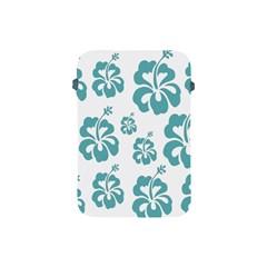 Hibiscus Flowers Green White Hawaiian Blue Apple iPad Mini Protective Soft Cases